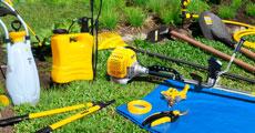Confira a seção de ferramentas para a Jardinagem e Pulverização
