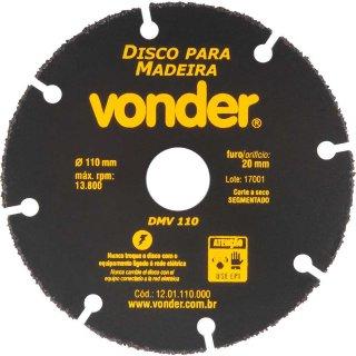 Disco de corte para madeira 110 mm DMV 110 VONDER